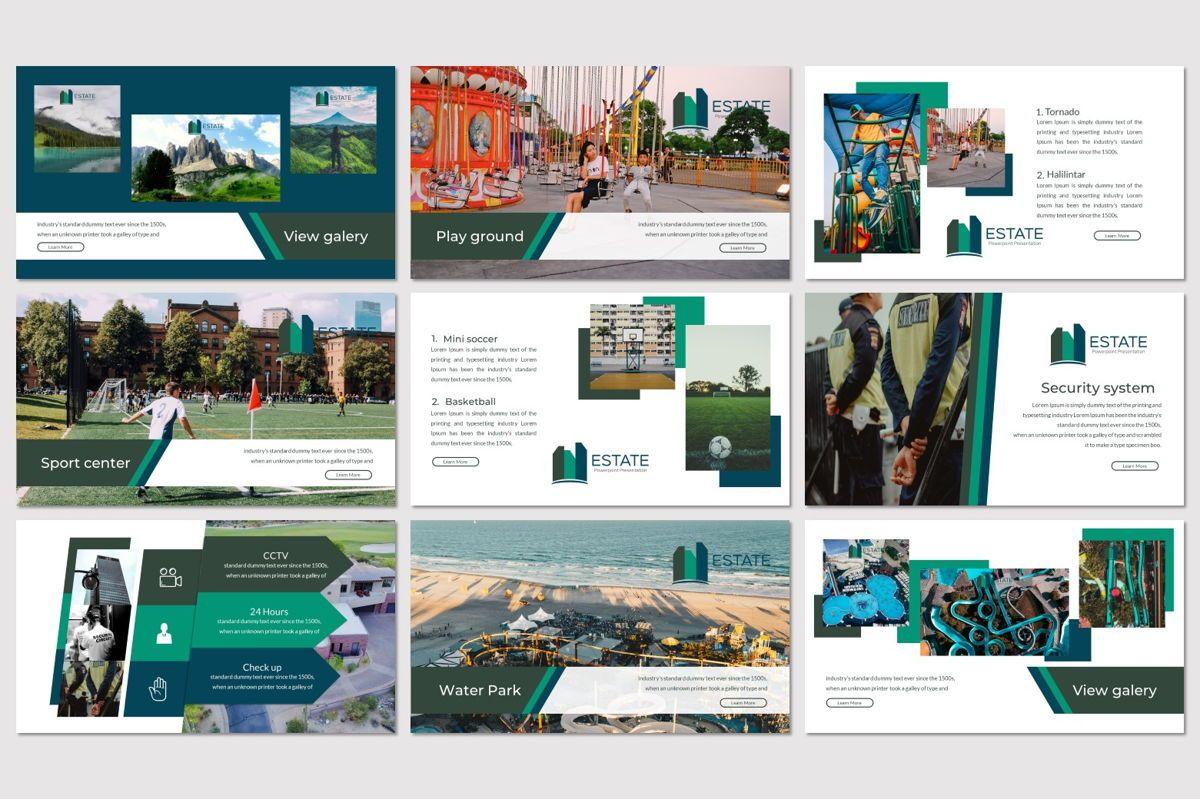 Estate - PowerPoint Template, Slide 3, 06983, Presentation Templates — PoweredTemplate.com