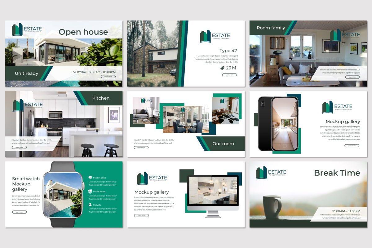 Estate - PowerPoint Template, Slide 4, 06983, Presentation Templates — PoweredTemplate.com