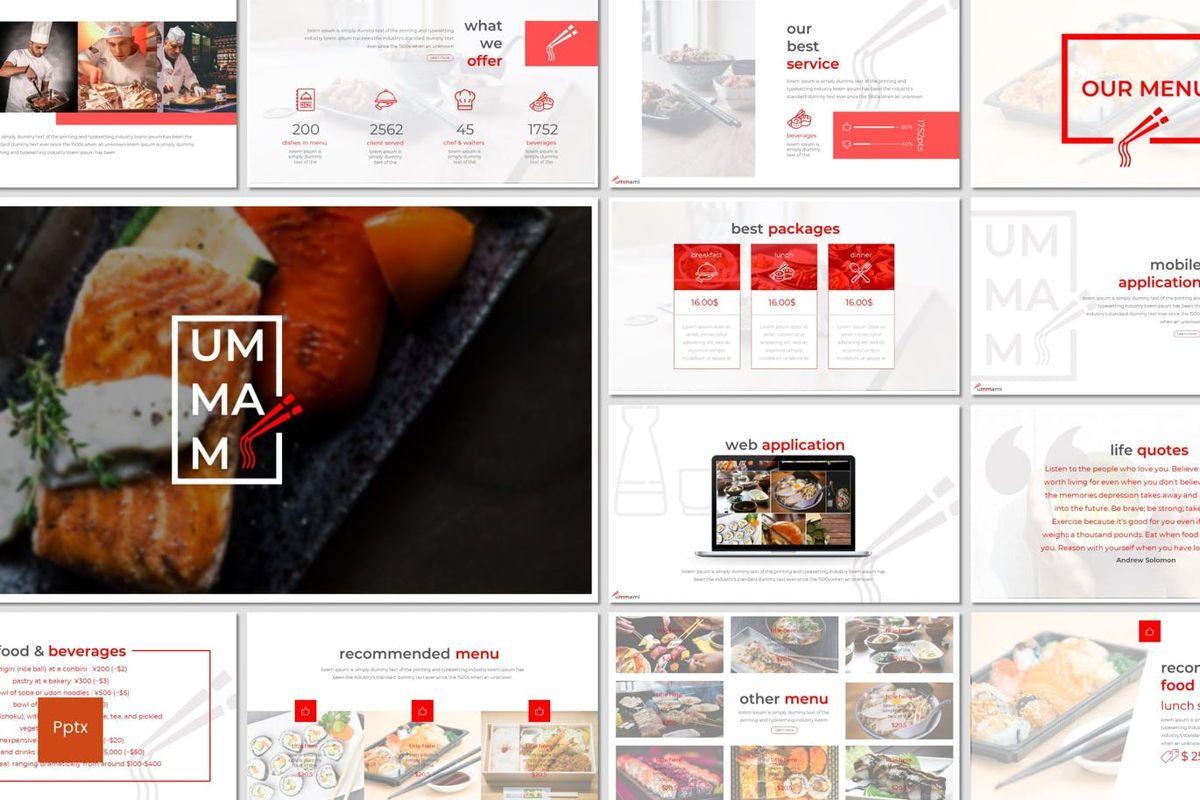 Ummami - PowerPoint Template, 06986, Presentation Templates — PoweredTemplate.com