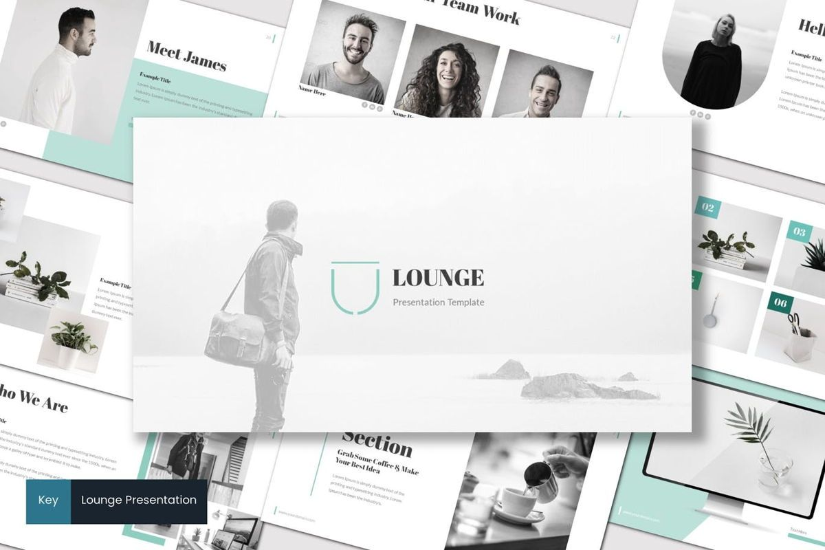 Lounge - Keynote Template, 06988, Presentation Templates — PoweredTemplate.com