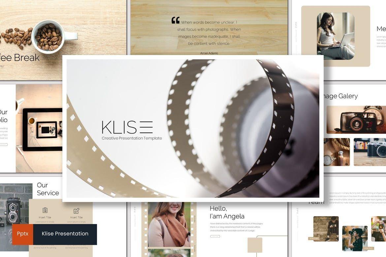 Klise - PowerPoint Template, 06992, Presentation Templates — PoweredTemplate.com