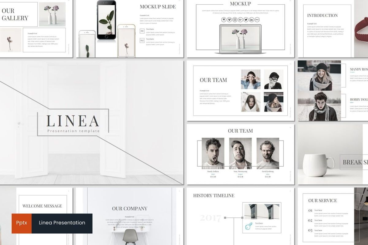 Linea - PowerPoint Template, 06993, Presentation Templates — PoweredTemplate.com
