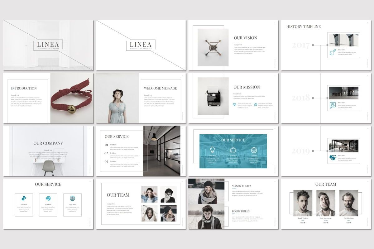 Linea - PowerPoint Template, Slide 2, 06993, Presentation Templates — PoweredTemplate.com