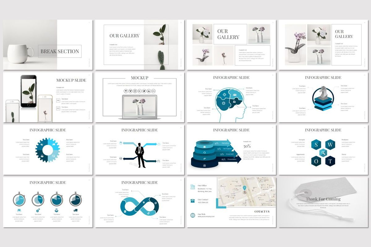 Linea - PowerPoint Template, Slide 3, 06993, Presentation Templates — PoweredTemplate.com