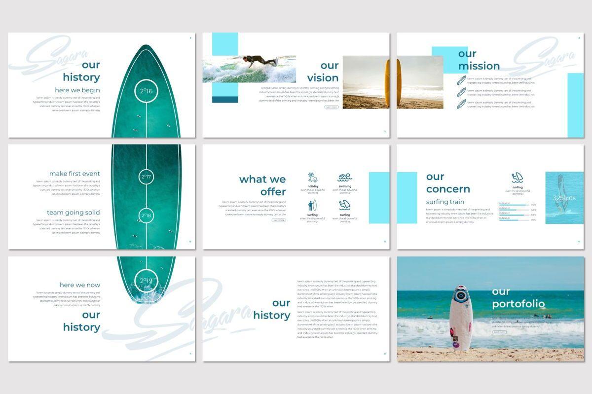 Sagara - PowerPoint Template, Slide 3, 06995, Presentation Templates — PoweredTemplate.com