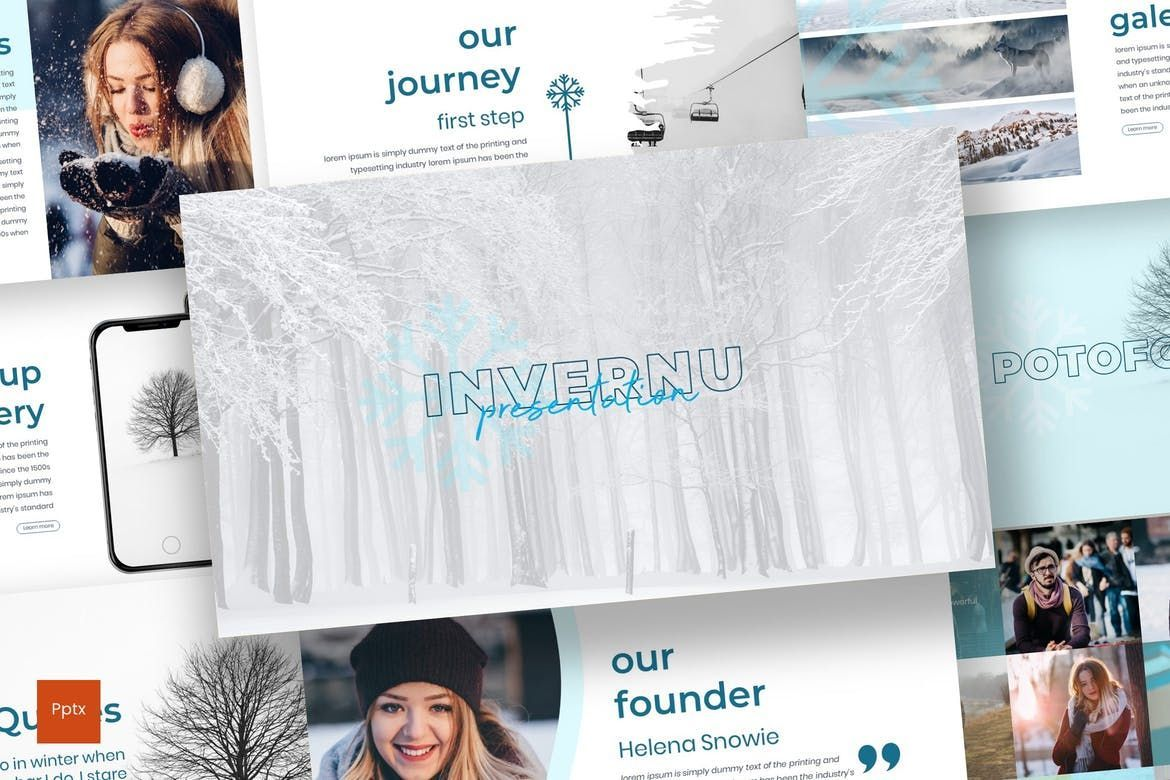 Invernu - PowerPoint Template, 06997, Presentation Templates — PoweredTemplate.com