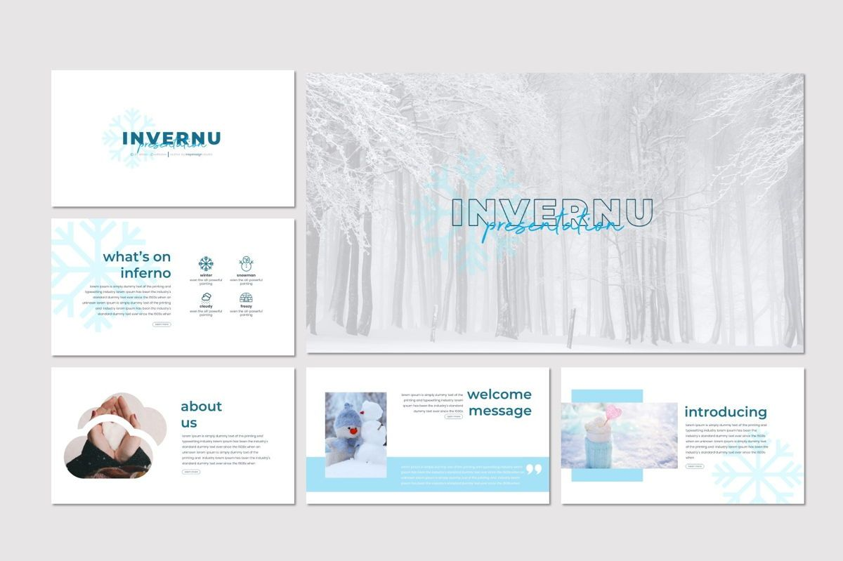 Invernu - PowerPoint Template, Slide 2, 06997, Presentation Templates — PoweredTemplate.com