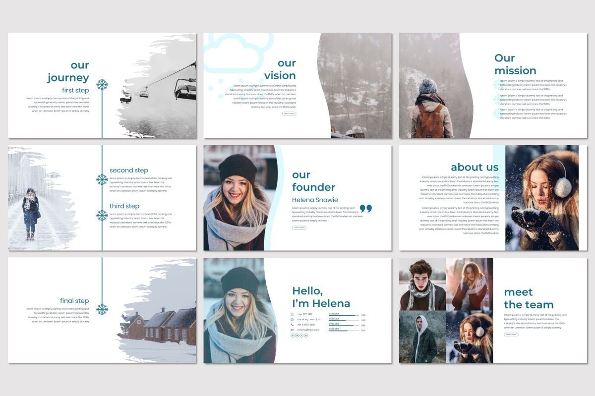 Invernu - PowerPoint Template, Slide 3, 06997, Presentation Templates — PoweredTemplate.com