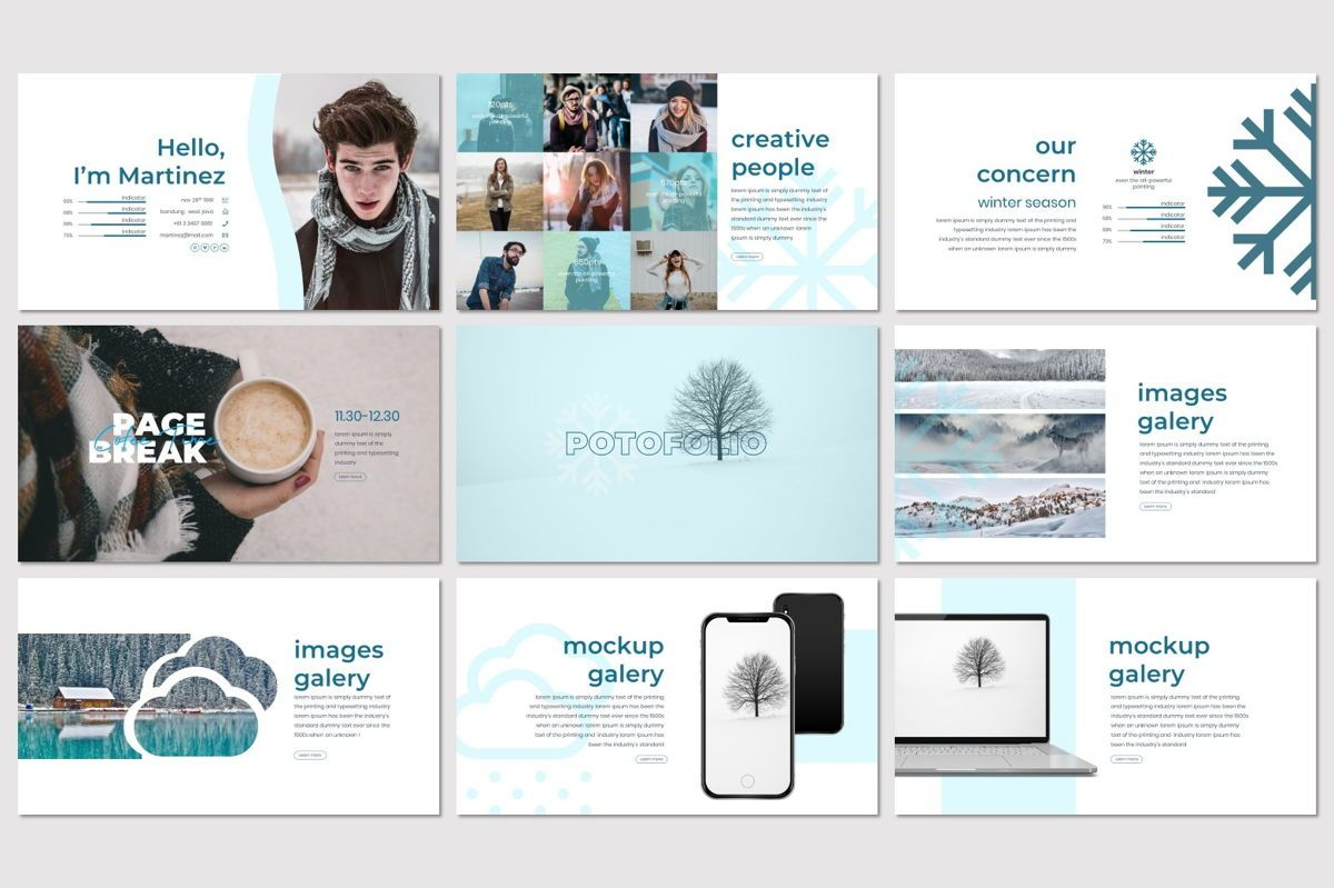 Invernu - PowerPoint Template, Slide 4, 06997, Presentation Templates — PoweredTemplate.com