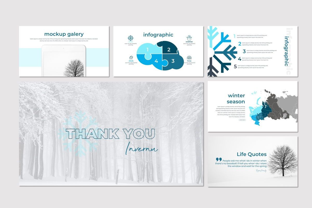 Invernu - PowerPoint Template, Slide 5, 06997, Presentation Templates — PoweredTemplate.com