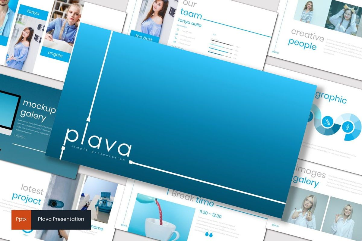 Plava - PowerPoint Template, 06998, Presentation Templates — PoweredTemplate.com