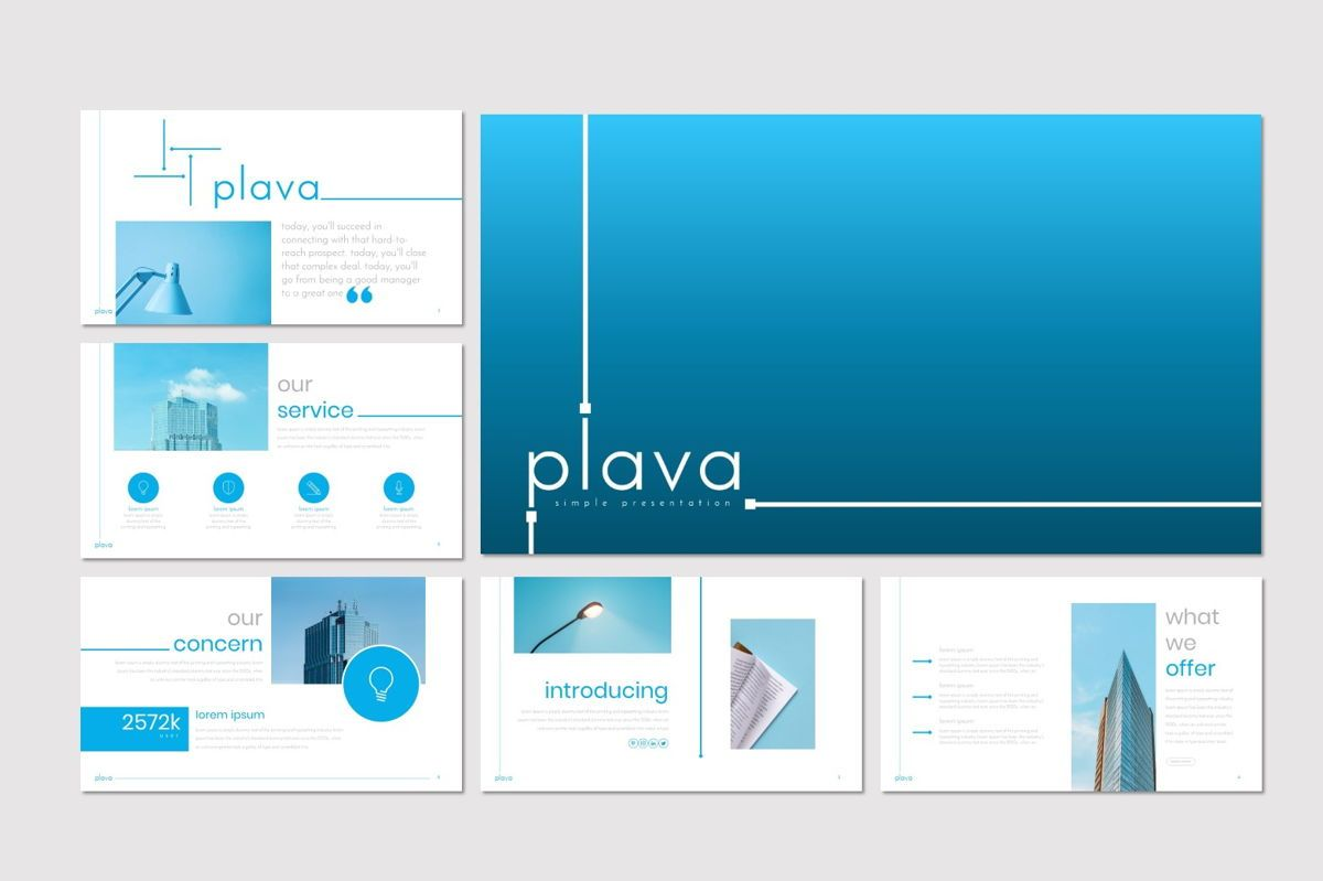 Plava - PowerPoint Template, Slide 2, 06998, Presentation Templates — PoweredTemplate.com