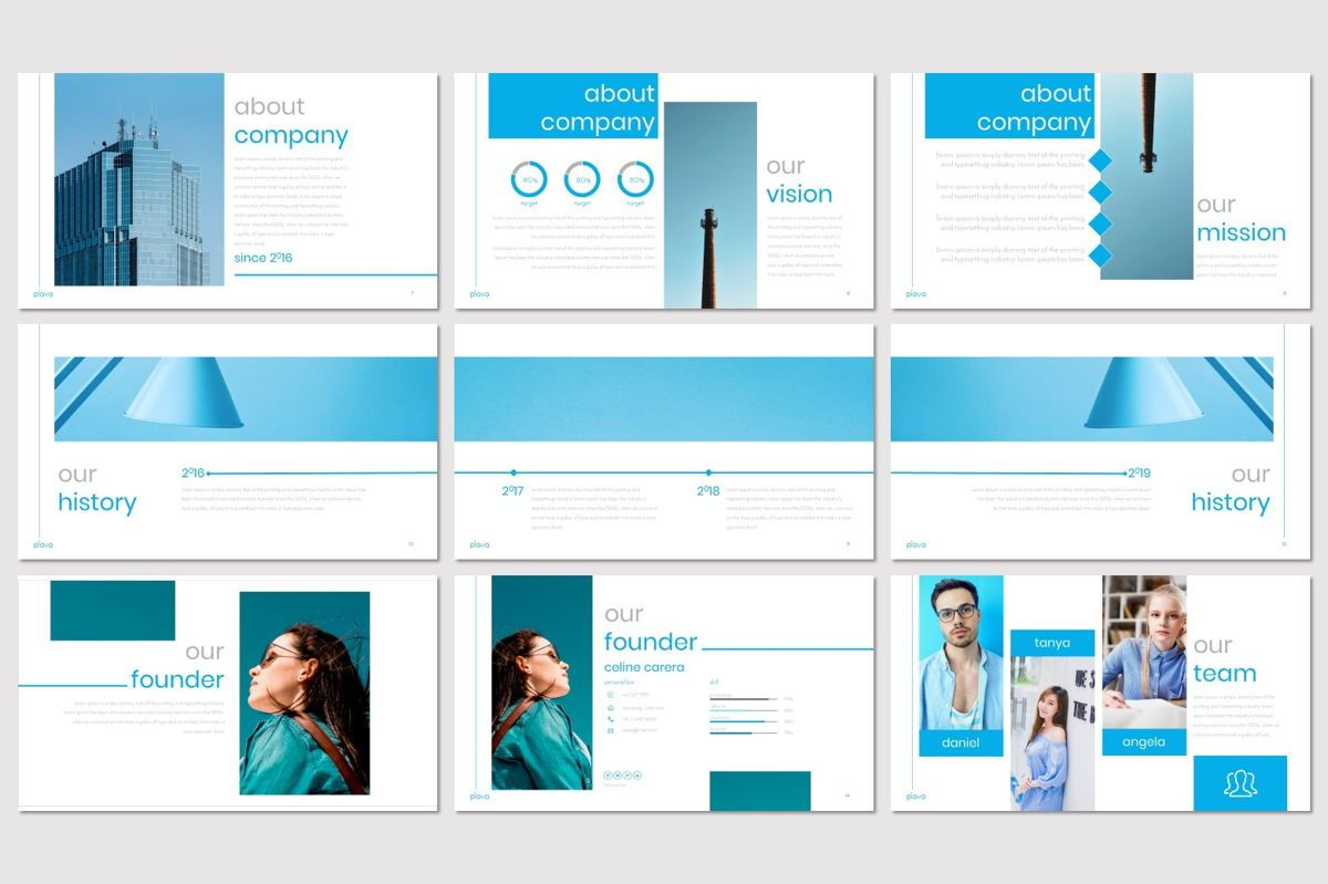 Plava - PowerPoint Template, Slide 3, 06998, Presentation Templates — PoweredTemplate.com