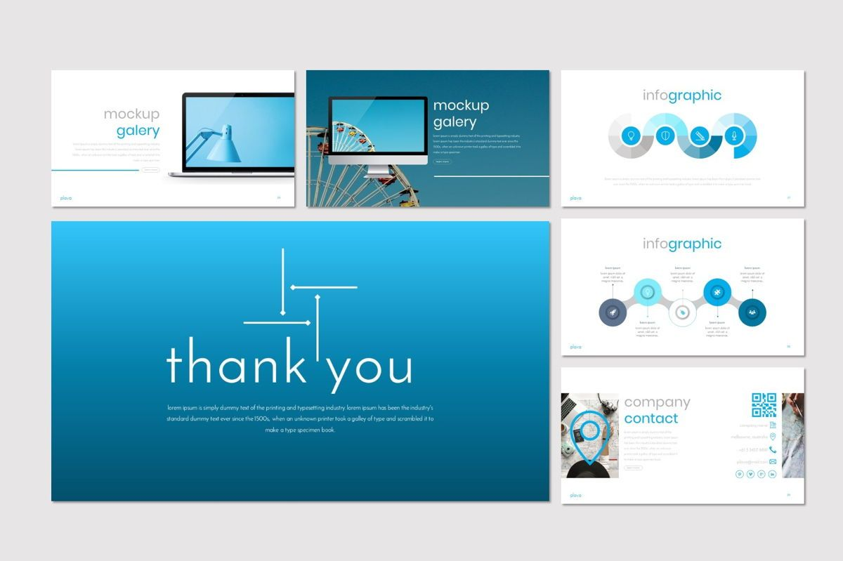 Plava - PowerPoint Template, Slide 5, 06998, Presentation Templates — PoweredTemplate.com