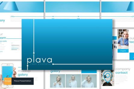Presentation Templates: Plava - Google Slides Template #06999