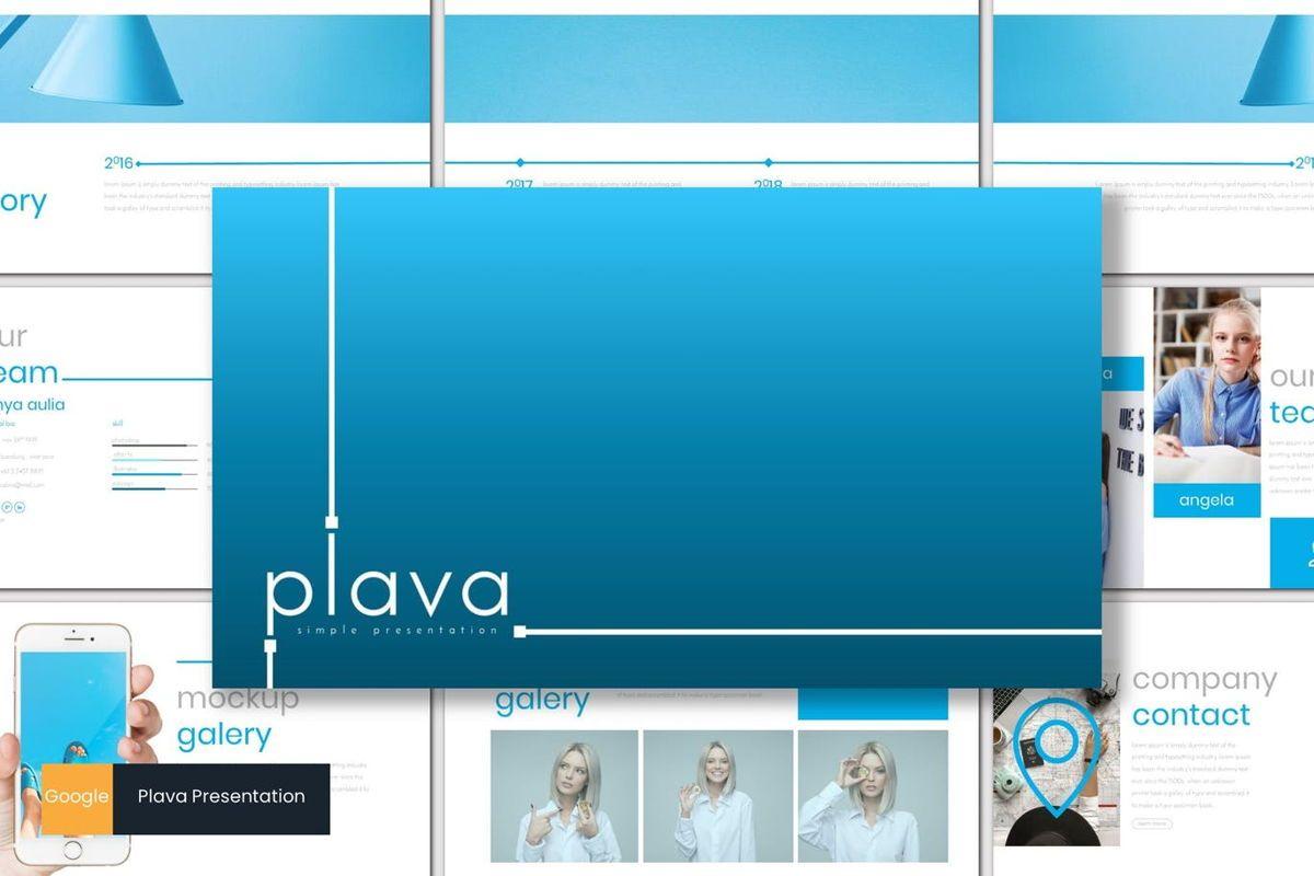 Plava - Google Slides Template, 06999, Presentation Templates — PoweredTemplate.com