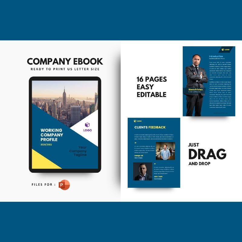 Professional graphic designer portfolio powerpoint template, 07000, Business Models — PoweredTemplate.com