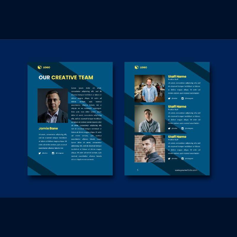Professional graphic designer portfolio powerpoint template, Slide 3, 07000, Business Models — PoweredTemplate.com