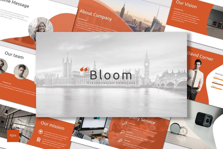 Bloom - PowerPoint Template, 07005, Presentation Templates — PoweredTemplate.com