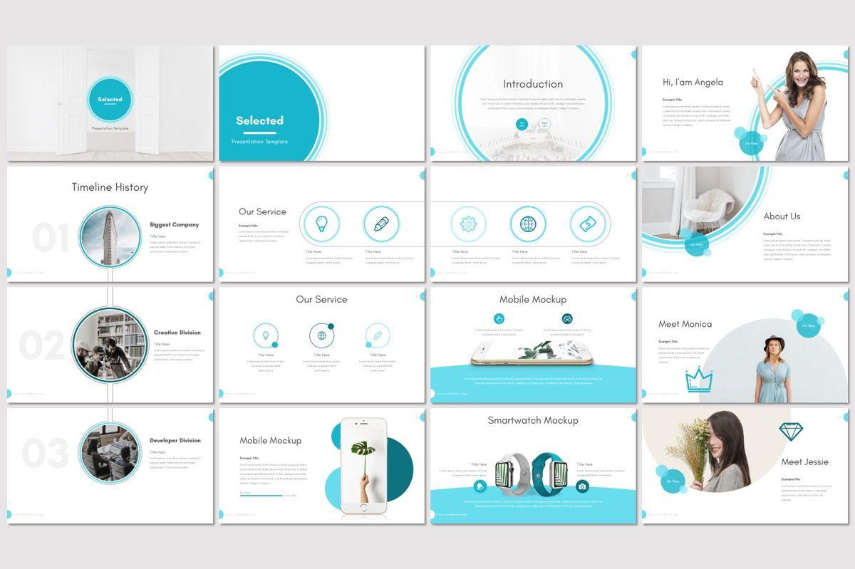 Selected - PowerPoint Template, Slide 2, 07006, Presentation Templates — PoweredTemplate.com