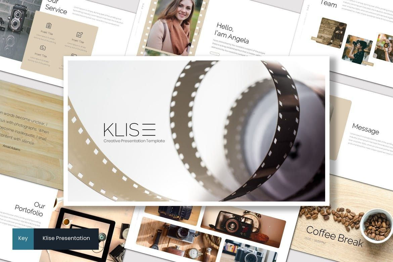 Klise - Keynote Template, 07007, Presentation Templates — PoweredTemplate.com