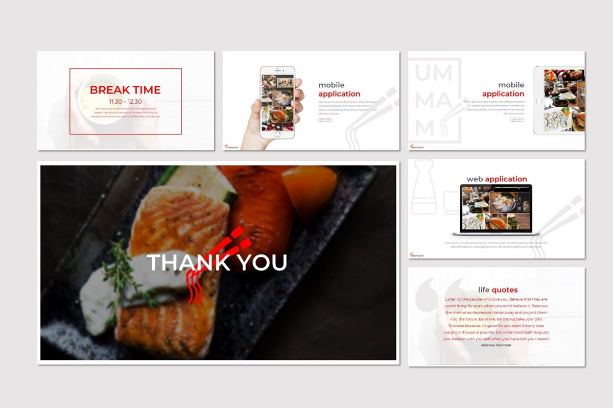 Ummami - Keynote Template, Slide 5, 07008, Presentation Templates — PoweredTemplate.com