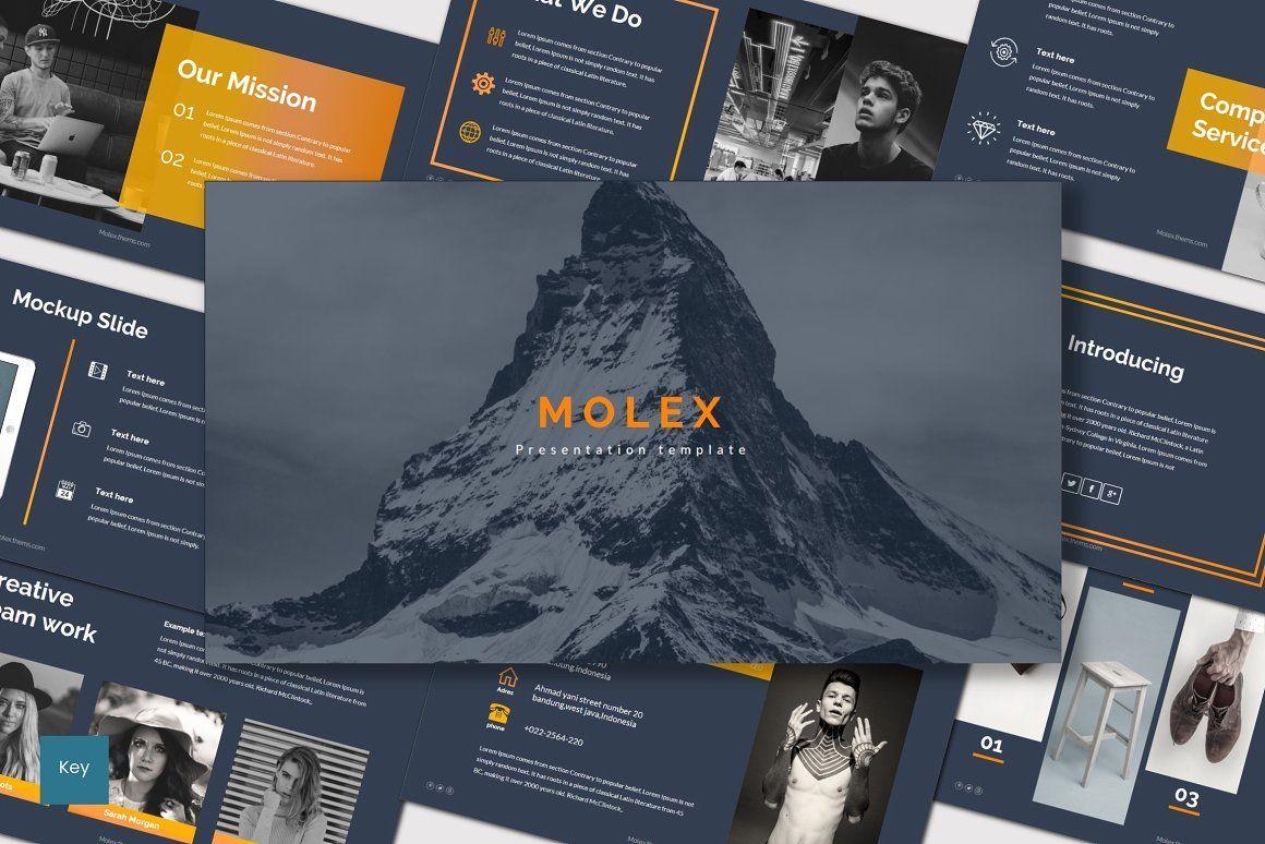 Molex - Keynote Template, 07009, Presentation Templates — PoweredTemplate.com