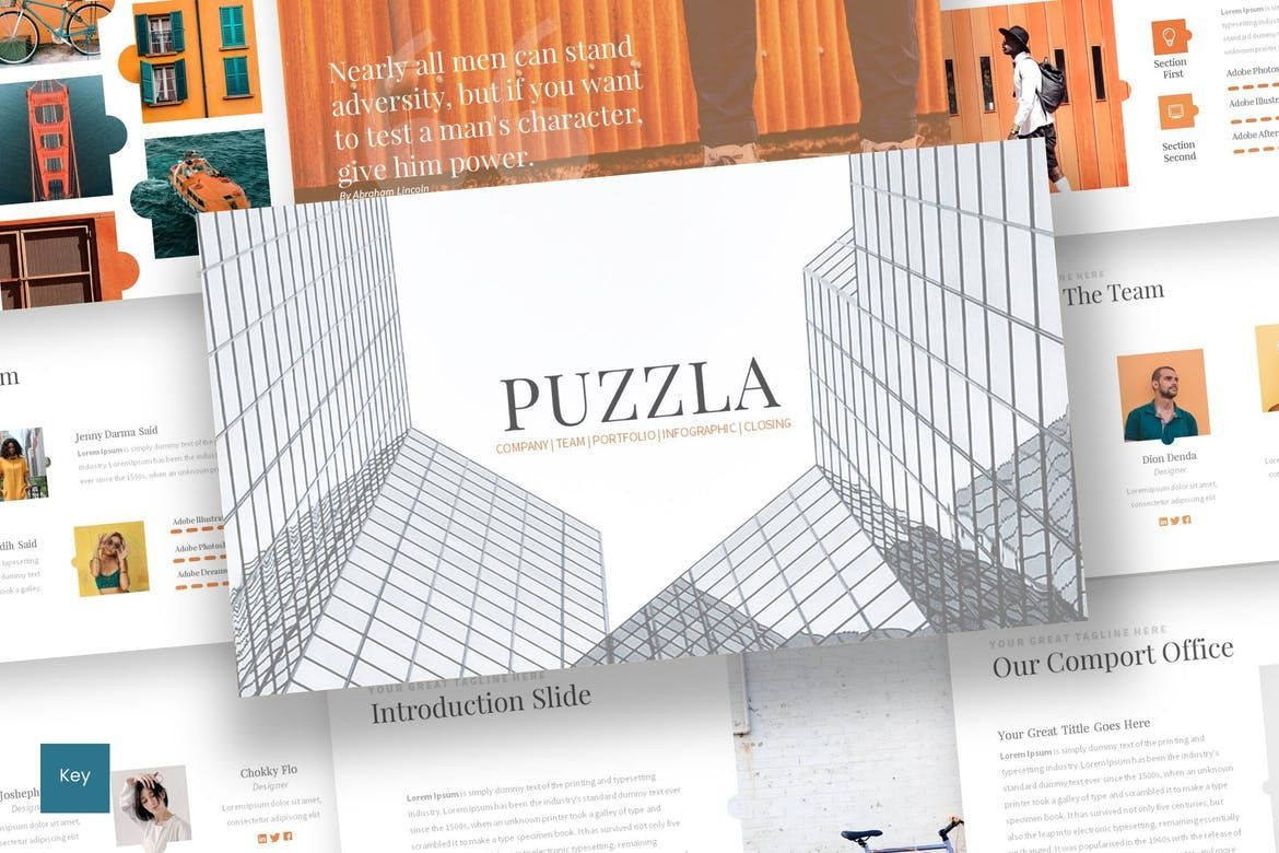 Puzzla - Keynote Template, 07010, Presentation Templates — PoweredTemplate.com
