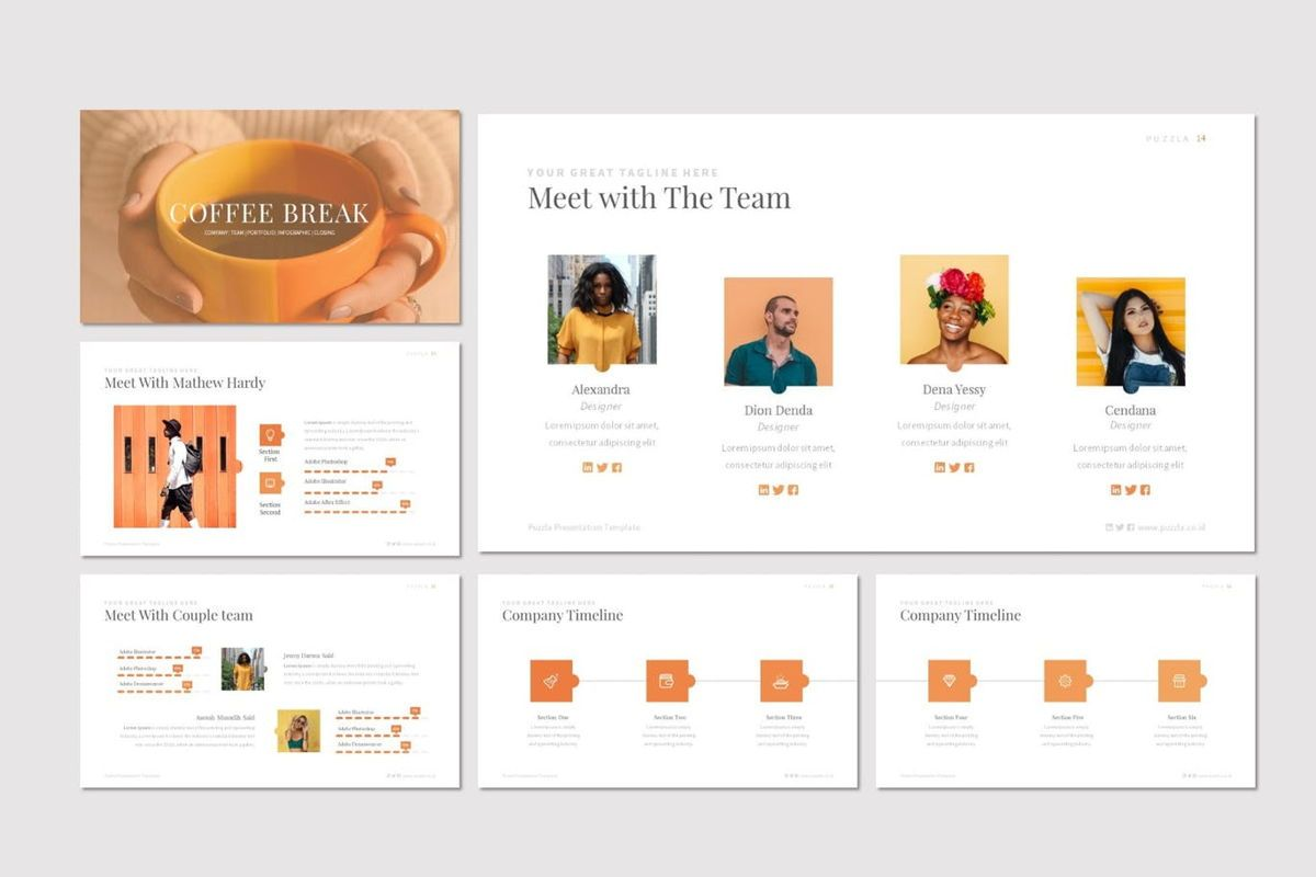Puzzla - Keynote Template, Slide 3, 07010, Presentation Templates — PoweredTemplate.com