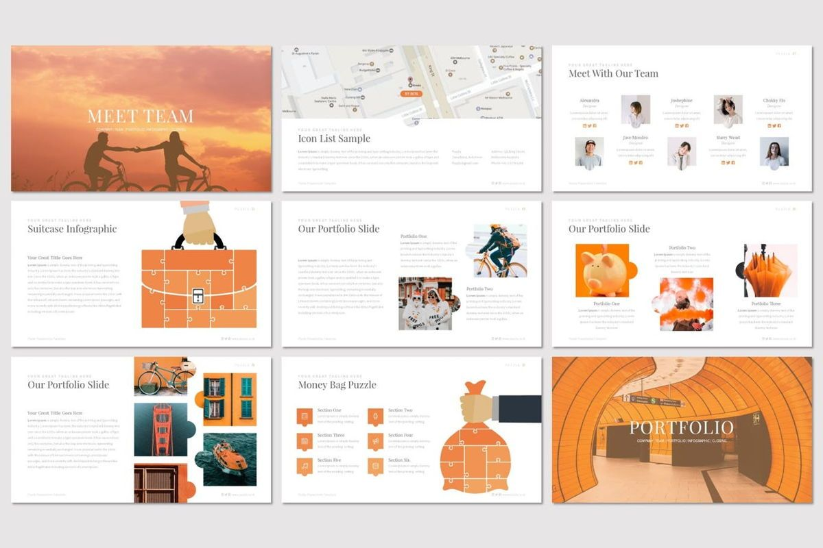 Puzzla - Keynote Template, Slide 4, 07010, Presentation Templates — PoweredTemplate.com
