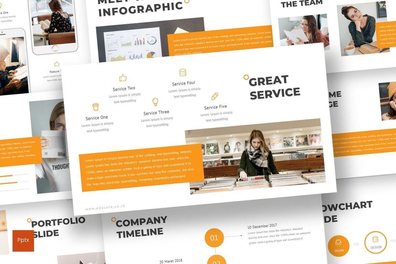 Educate - PowerPoint Template, 07011, Presentation Templates — PoweredTemplate.com