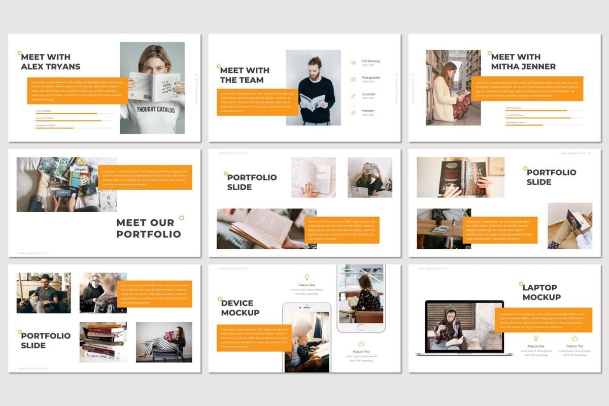Educate - PowerPoint Template, Slide 4, 07011, Presentation Templates — PoweredTemplate.com