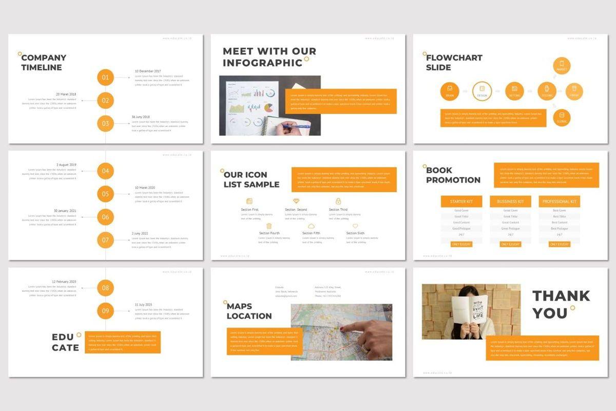 Educate - PowerPoint Template, Slide 5, 07011, Presentation Templates — PoweredTemplate.com