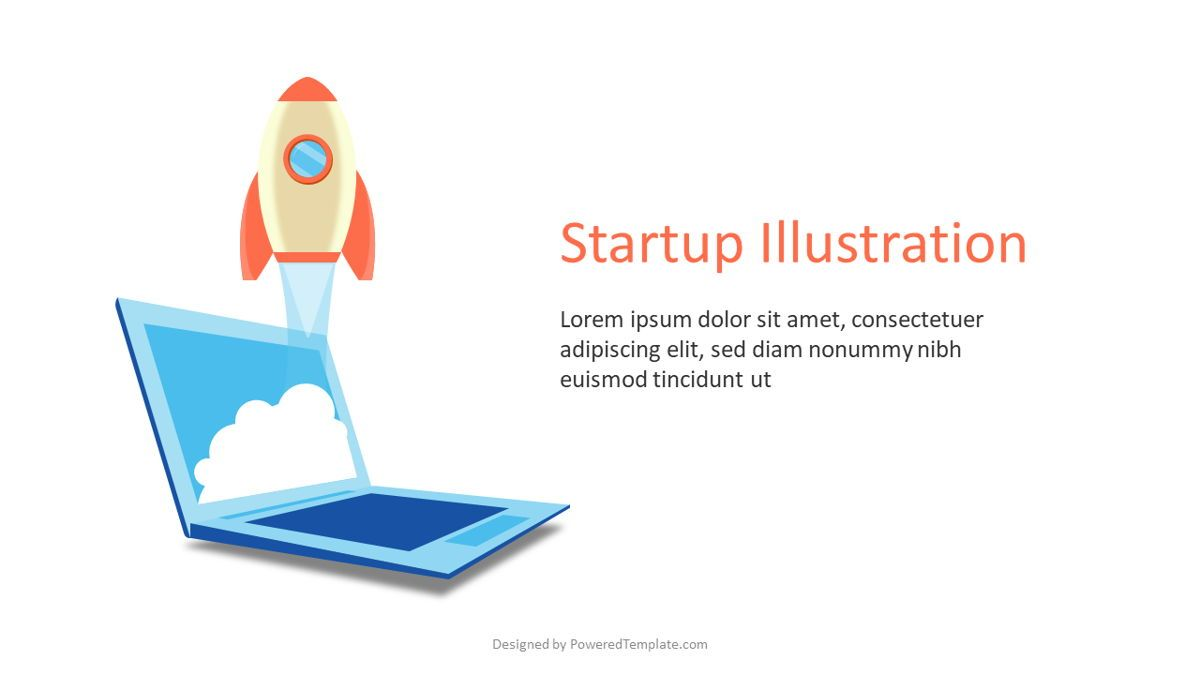 Startup Slide with Rocket Launch, Slide 2, 07015, Infographics — PoweredTemplate.com