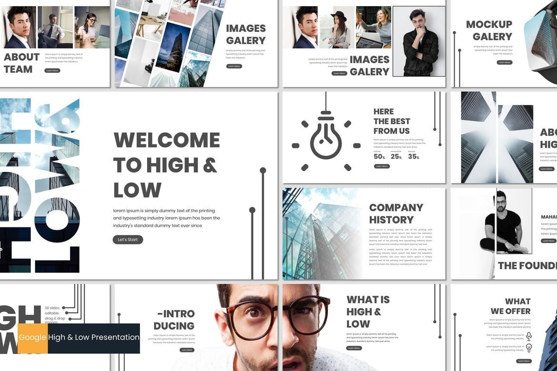High Low - Google Slides Template, 07017, Presentation Templates — PoweredTemplate.com