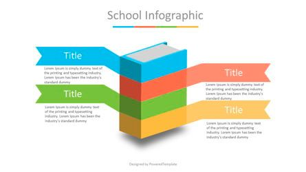 Education Charts and Diagrams: Book Infographic with Options #07018