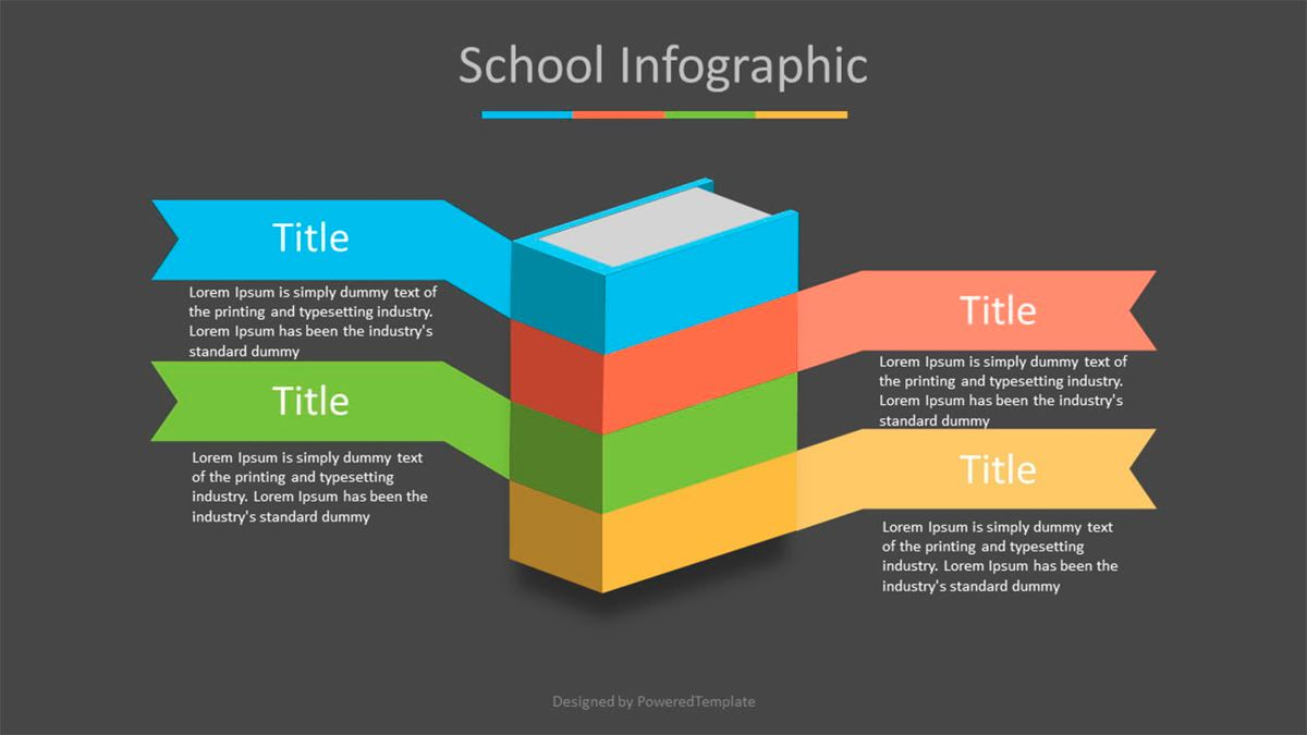 Book Infographic with Options, Slide 2, 07018, Education Charts and Diagrams — PoweredTemplate.com