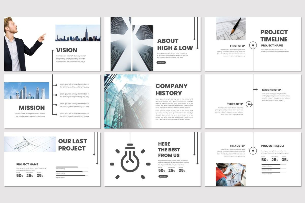High and Low - PowerPoint Template, Slide 3, 07019, Presentation Templates — PoweredTemplate.com