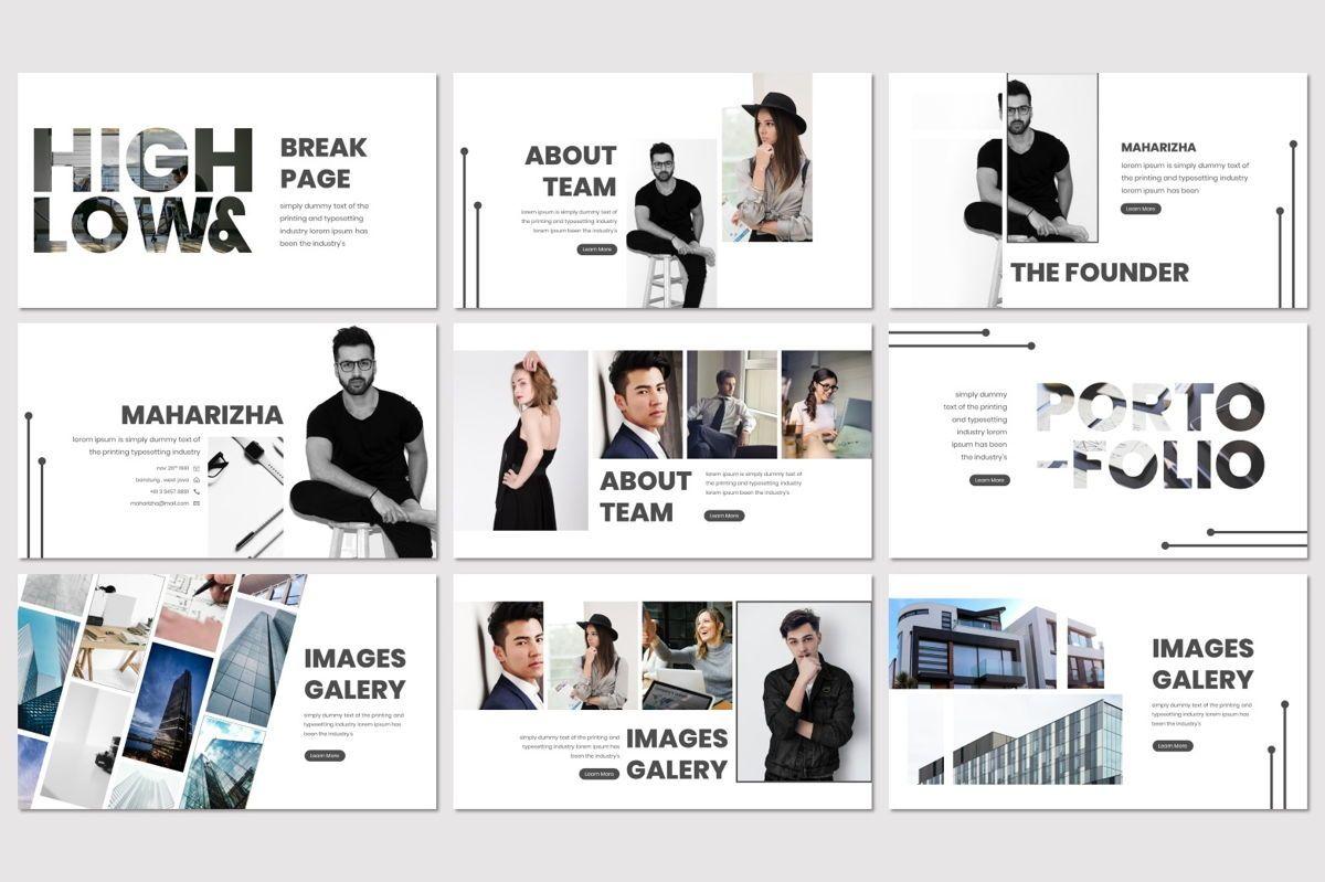 High and Low - PowerPoint Template, Slide 4, 07019, Presentation Templates — PoweredTemplate.com