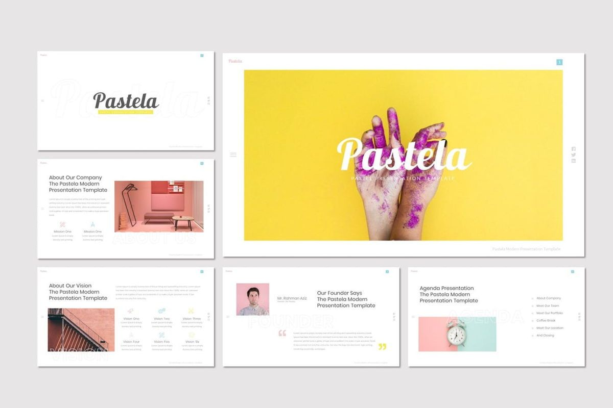 Pastela - PowerPoint Template, Slide 2, 07020, Presentation Templates — PoweredTemplate.com