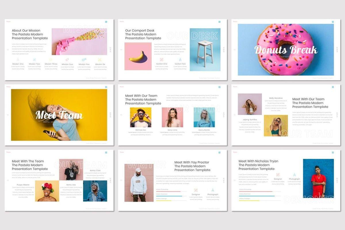 Pastela - PowerPoint Template, Slide 3, 07020, Presentation Templates — PoweredTemplate.com