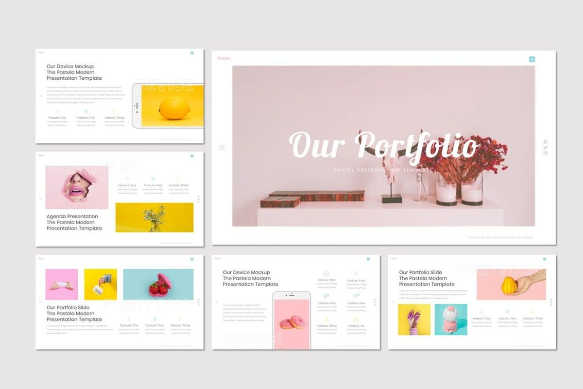 Pastela - PowerPoint Template, Slide 4, 07020, Presentation Templates — PoweredTemplate.com