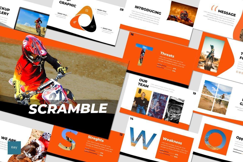 Scramble - Keynote Template, 07021, Presentation Templates — PoweredTemplate.com