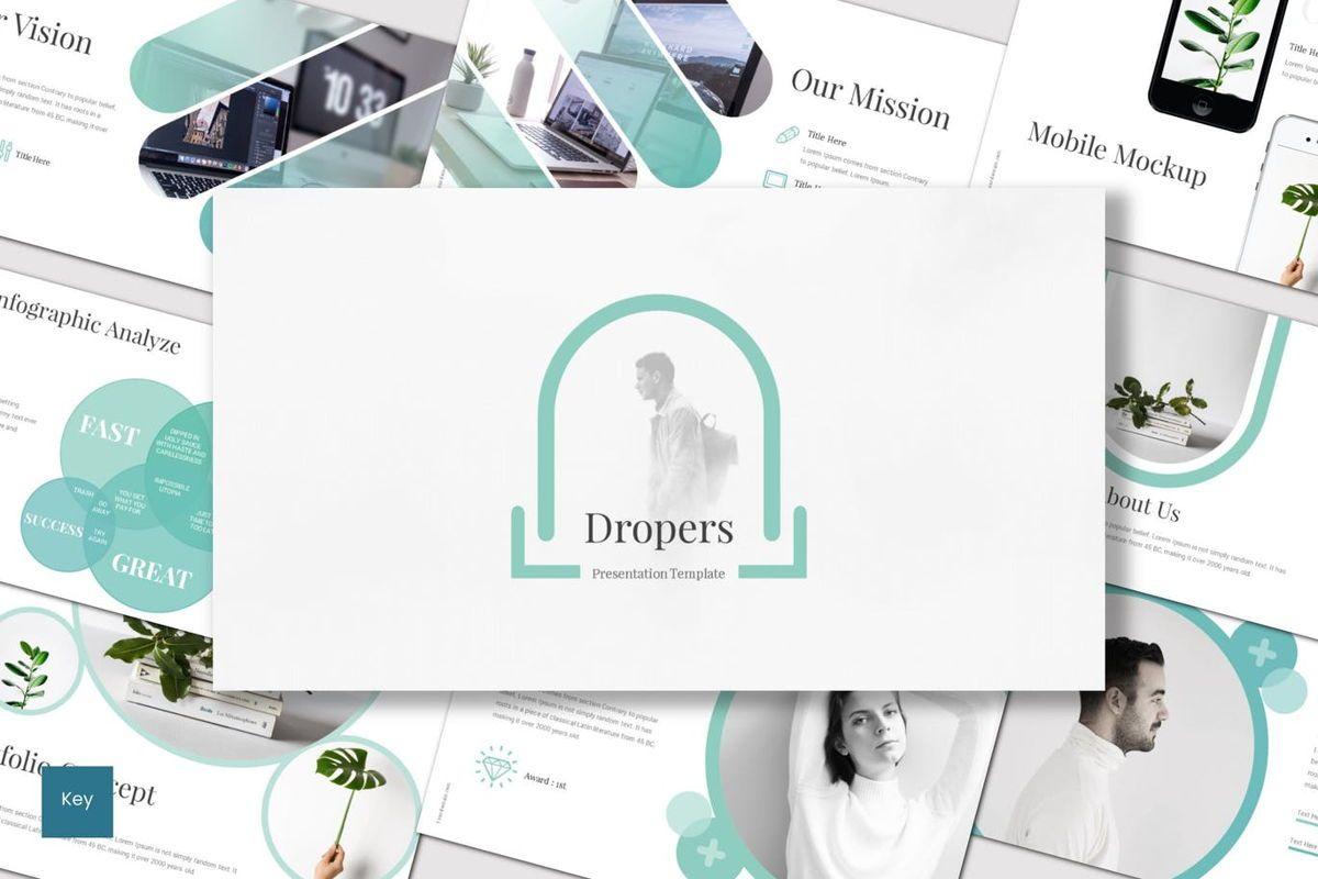 Dropers - Keynote Template, 07023, Presentation Templates — PoweredTemplate.com