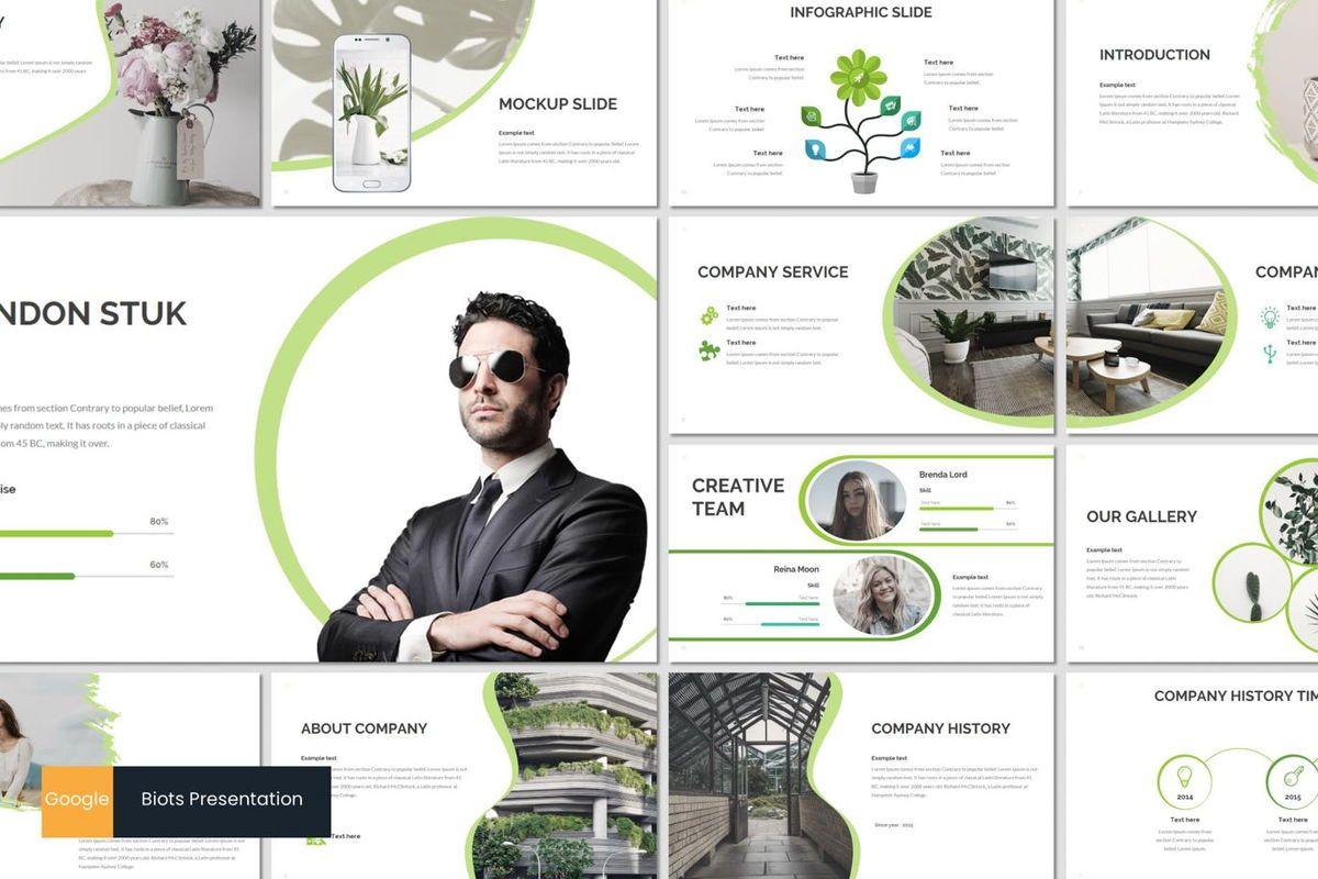 Biots - Google Slides Template, 07024, Presentation Templates — PoweredTemplate.com