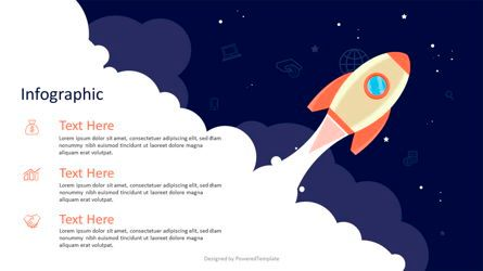 Infographics: A Space Rocket Launch in Startup Concept #07026