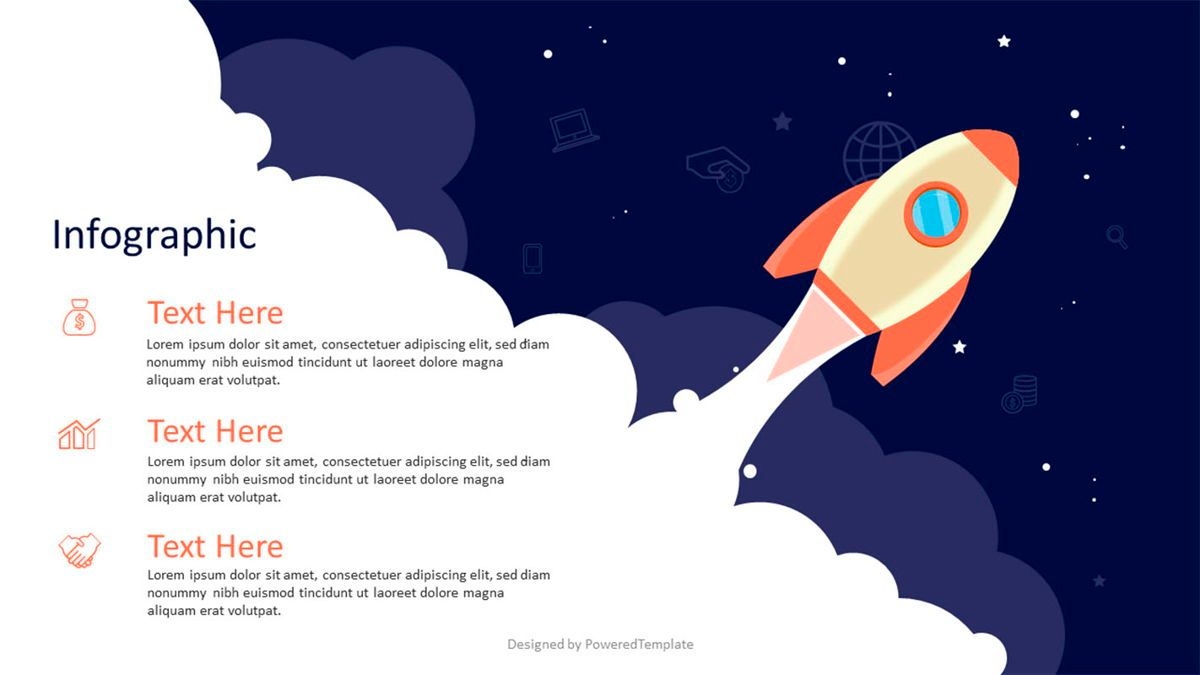 A Space Rocket Launch in Startup Concept, 07026, Infographics — PoweredTemplate.com
