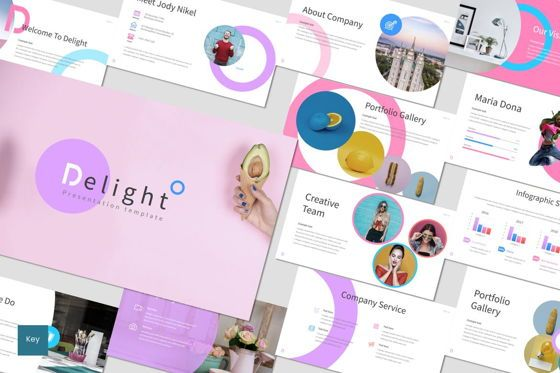 Presentation Templates: Delight - Keynote Template #07028