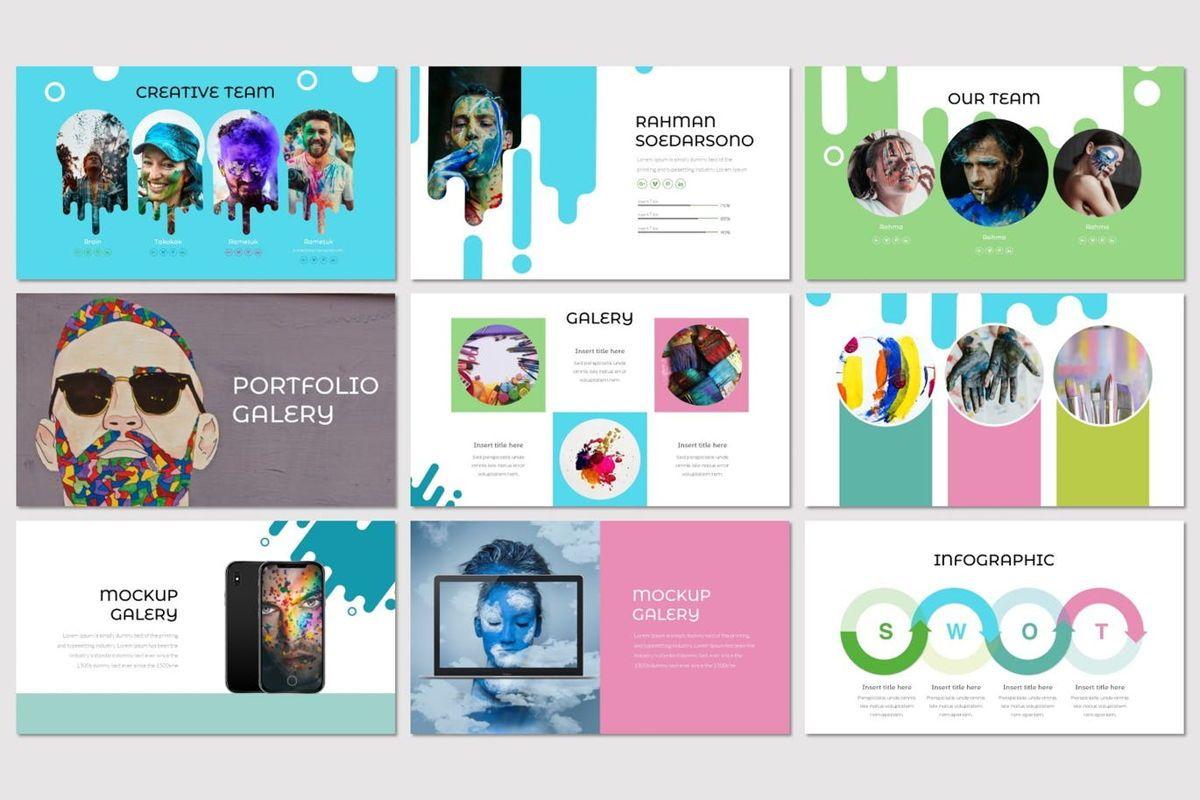 Vernice - PowerPoint Template, Slide 4, 07029, Presentation Templates — PoweredTemplate.com