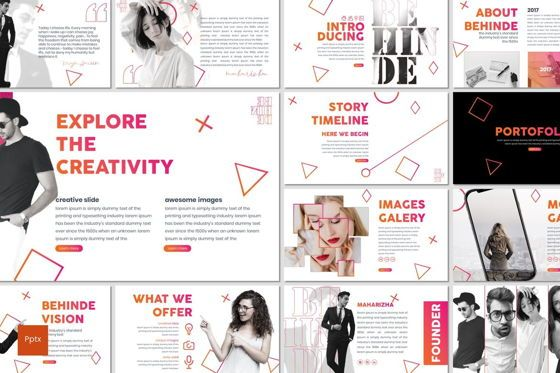 Presentation Templates: Behinde - PowerPoint Template #07030